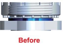PFA fitting ring click gauge